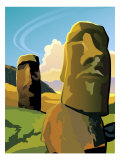 Buy The Moai Statues on Easter Island at AllPosters.com