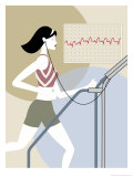 Woman Walking on a Treadmill
