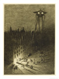 The War of the Worlds, a Martian Machine Contemplates the Drunken Crowd