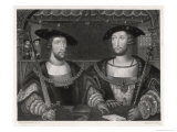 King Henry VIII with the Emperor Carl V as Young Men at the Field of the Cloth of Gold 1520