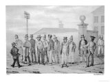 Prisoners Outside the Government Jail in Sydney Giclee Print