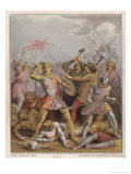 Buy King Henry V Engages in Hand-To- Hand Fighting on Foot Against the French Infantry at AllPosters.com