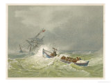 Lifeboat Going to the Aid of a Sailing Ship in Trouble