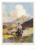 Boy Riding Motor Bike
