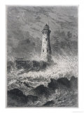 Longstone Lighthouse with Rough Sea