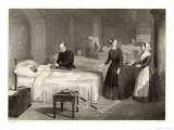 In Scutari Florence Nightingale Assists While a Doctor Puts a Splint on a Patient's Arm