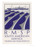Poster for the South American Service of the Royal Mail Steam Packet Company