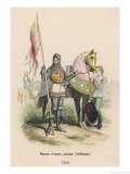 French Soldier of the 100 Years War Carrying the