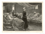 Florence Nightingale Walks Between the Rows of Beds in the Barrack Hospital