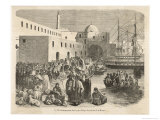 Pious Moslem Pilgrims in the Harbour at Algiers Make Their Way to the Vessels