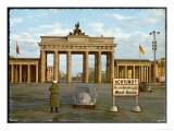 Berlin Divided: The Brandenburg Gate Stands Isolated Between East and West Berlin