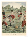 Soldiers in the French Army Enjoy a Game of Football