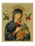 Mary and Jesus with Attendant Angels as Depicted in a Russian Icon