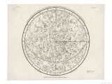 Buy The Northern Hemisphere Including the Signs of the Zodiac at AllPosters.com