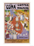 Advertisement for the Cona Coffee Machine