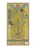 Buy Tarot: 10 La Roue de Fortune, The Wheel of Fortune at AllPosters.com