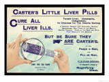 Liver Tablets, Advert for Carters Little Liver Pills