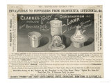 Advertisement for Clarke's 'Fairy' Aid to the Treatment of Influenza and Bronchitis Giclee Print