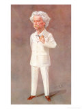 Mark Twain American Writer Born: Samuel Langhorne Clemens Pictured in a White Suit