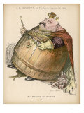 Edward VII Depicted as an Ogre with a Body the Size of a Barrel