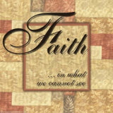 Words to Live By, Faith Art Print