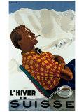 L'Hiver en Suisse Giclee Print