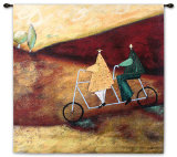 Rolling Home Together Wall Tapestry