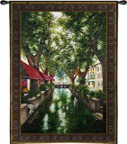 Canal in Brugge Wall Tapestry