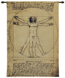 Vitruvian Man Wall Tapestry