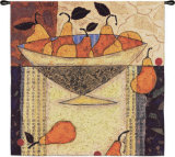 Asian Pears in Bowl Wall Tapestry
