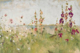 Buy Hollyhocks by the Sea at AllPosters.com
