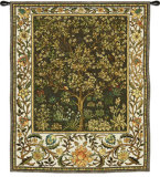 Tree of Life Umber Wall Tapestry