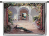 Sunlit Courtyard Wall Tapestry