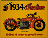 1934 Indian Motorcycles Tin Sign