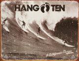 Hang Ten Tin Sign