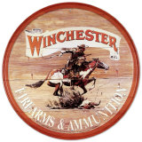 Winchester Express Round Tin Sign