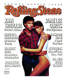 John Travolta and Jaime Lee Curtis, Rolling Stone no. 452/453, July 1985