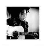 Bob Marley with Guitar Art Print