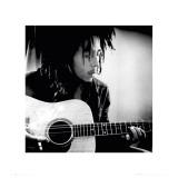 Bob Marley with Guitar Art Print