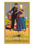 Holland Via Hull-Rotterdam, LNER Poster, 1923-1947