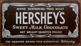 Hershey's Old Label Tin Sign