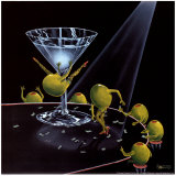 Even Dirtier Martini Art Print