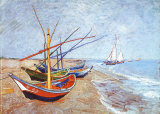 Buy Fishing Boats on the Beach at Saints-Maries, c.1888 at AllPosters.com