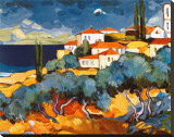 Seaside with Olive Trees