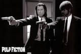 Pulp Fiction   Duo with Guns (Jackson and Travolta) B &amp; W Movie Poster Poster