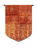 Abstract Damask Poppy Wall Tapestry