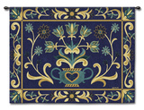 Heritage Floral Blue Wall Tapestry