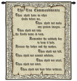 The Ten Commandments Wall Tapestry