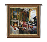 Grand Piano Room Wall Tapestry