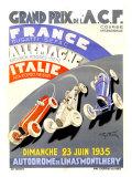 Grand Prix de l'A.C.F., 1935 Giclee Print